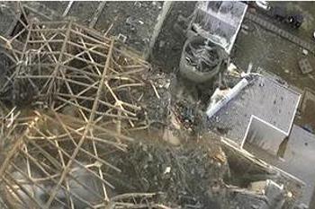 福島第一核電廠受損情形,圖片來源:ENS