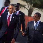 美國總統歐巴馬於非洲行最終站坦尚尼亞宣布行政命令。(攝影:Ben Curtis/美聯社)