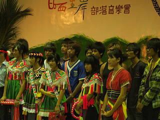 參與策劃與演出音樂會的部落孩子