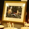 座談會現場為車諾比受難者燃燭默哀。