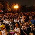 大安森林公園聚集近千民眾一起倒數關燈