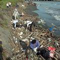 台南二人溪出海口監測行動(圖片提供: 台南社大晁瑞光)