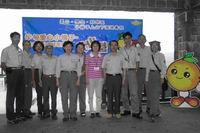 陽管處有500多位志工投入服務,圖為志工支援解說活動。