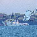 英貨輪拿波里號在英國海峽擱淺 造成海洋污染(圖片提供:Dave Mitchell)