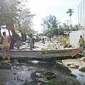 船隻被海嘯捲到街上(Photo courtesy Tutuvatu)