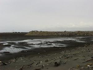 1997年6月施工中的海洋公園北堤