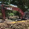 6月27日,怪手整地清除樹林
