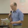 蠻野心足協會理事長文魯彬,映後座談與觀眾分享。