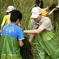 大小志工志工互助合作完成2007最後梯次的工作假期