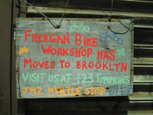 Freegan Bike Workshop has moved to Brooklyn!