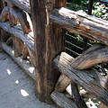 真漂亮的木頭欄杆