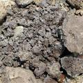 這種爐渣很容易風化,由大化小,再化成粉末。圖片來源:晁瑞光