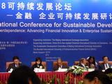 「2008可持續發展論壇──金融、企業可持續發展研討會」。圖片來源:城國斌