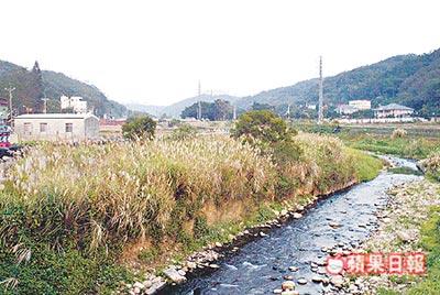明基友達集團響應農委會種稻體驗活動,但其位在霄裡溪上游的公司卻不斷排放廢水。圖片來源:蘋果日報