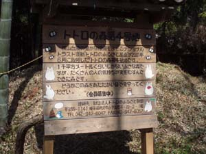 龍貓森林4號地介紹立牌