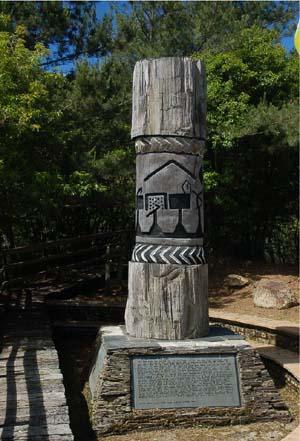 原住民的圖騰。圖片來源:邦卡兒‧海放南