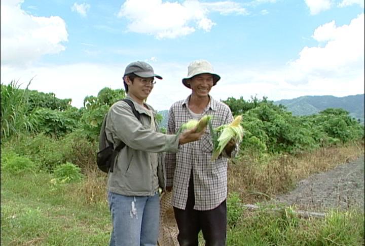 王福裕和有機農民;圖片來源:我們的島
