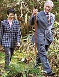 英國威爾斯親王視察 Afan雨林(圖片來源:Office of HRH Prince of Wales)