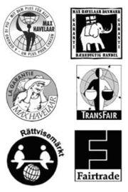 各種公平貿易認證標章。