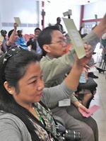 台灣綠黨代表希婻‧瑪飛洑、潘翰聲等在全球綠人大會倡議「全球原住民族綠人網絡」(節錄自綠黨臉書)