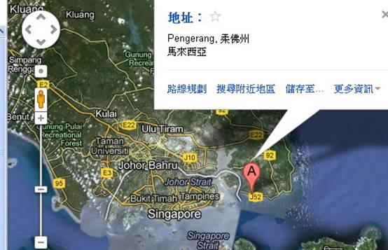 邊佳蘭地理位置圖(取材自 Google Map)