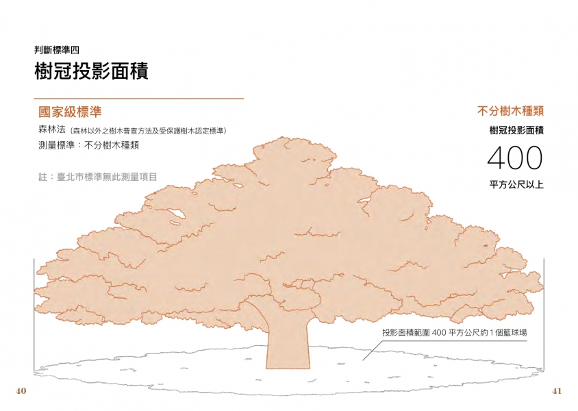 判斷標準四:樹冠投影面積