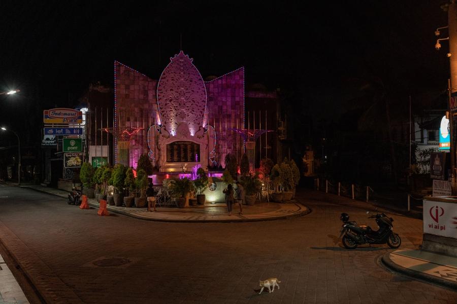 峇里島熱門景點雷吉安街,疫情爆發期間杳無人煙。(印尼,峇里島,2020年5月)。攝影:Nyimas Laula